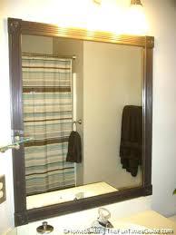Frame Bathroom Mirror Kit Bathroom Mirrors With Frames Custom Mirror Frames By Bathroom