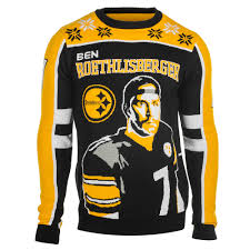 ben roethlisberger 7 pittsburgh steelers nfl player ugly sweater