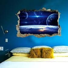 themed room decor planet bedroom decor outer space planet wall for kids room