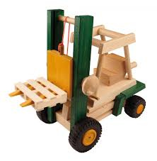 wooden truck toy uniwood fork lift truck wooden toy