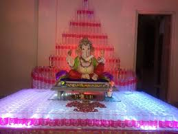 Home Temple Decoration Ideas Ganesh Chaturthi Decoration Ideas Projects To Try Pinterest