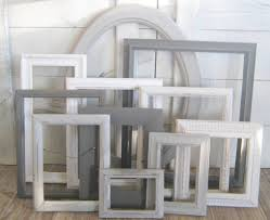 farmhouse picture frame wall decor ombre gray frame set 30 00