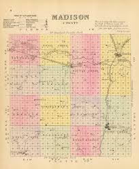 Map Of Counties In Nebraska Genealogy And History Of Madison County Nebraska Nebraska Genealogy