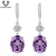 amethyst drop earrings aliexpress buy r 4 95ct genuine amethyst 925