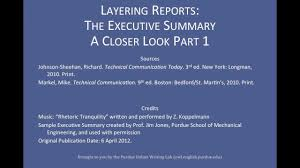Sample Technical Report Engineering Purdue Owl Layering Reports The Executive Summary A Closer Look