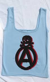 Light Blue Vest Anarchist Symbol Vest Top Light Blue The Pirates