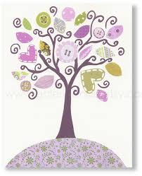 Purple Nursery Wall Decor For Children Nursery Wall Decor Baby Nursery Print
