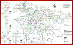 Los Angeles Metro Map by Los Angeles Rtd U2013 A Bus Chaser U0027s Dream