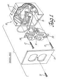 Wiring Diagram For Garage Door Opener by Patent Us6786766 Electrical Outlet Box With Secure Quick Connect