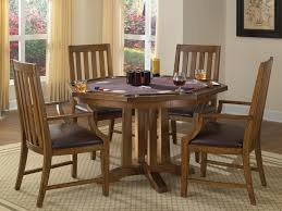 game table and chairs set home styles arts and crafts 5 piece oak game table set 5900 318