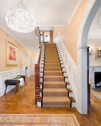 stair runner carpet staircase traditional with banister black and