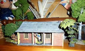 perry plastic farmhouse kit in new zealand wars setting dressing