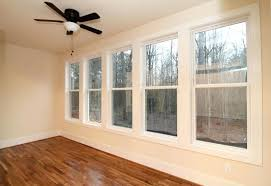 Windows To The Floor Ideas Window Second Floor With White Wall And Ceiling Fan Plus Glass