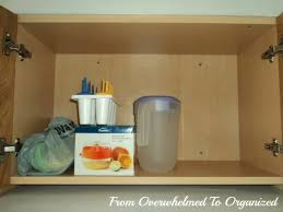 kitchen cabinet top storage tips for organizing awkward and to reach places in your