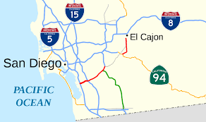 San Diego State Map by California State Route 54 Wikipedia