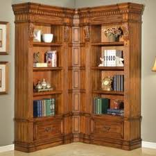 Walnut Corner Bookcase House Grand Manor Palazzo Small L Shape Bookcase Pah