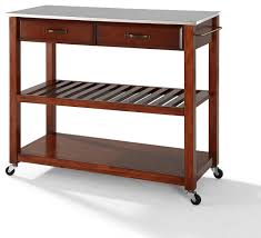 stainless steel top kitchen island stainless steel top kitchen cart island optional stool storage