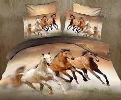 Girls Horse Comforter Horse Bedding Queen Amazon Com