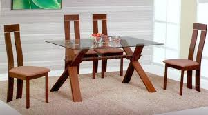 Glass Top Dining Table  KIurtjohnsonco - Round glass kitchen table sets