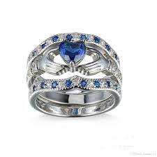 engagement rings with blue stones silver color blue cz rings for new