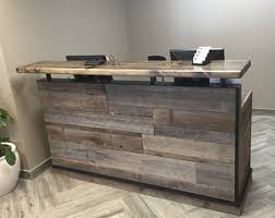 Reception Desk Wood Reception Desk Etsy