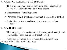 budget and budgetary control