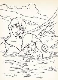 the little mermaid coloring pages ariel and eric kids coloring