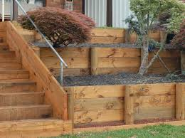 How To Build A Solid Wood Door Best 25 Wood Retaining Wall Ideas On Pinterest Sleeper Wall