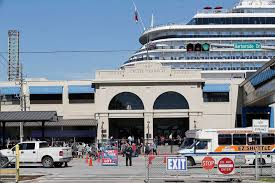 galveston showing recently expanded cruise terminal at open