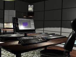 Studio Work Desk Pc Workdesk Home Office Interior Max 3ds Max Software