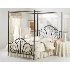 Hillsdale Furniture Dover Textured Black Queen Canopy BedBQPR - Black canopy bedroom sets queen
