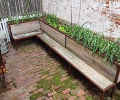 Backyard Raised Garden Ideas by Bench Bench Planter Box Plans Backyard Planter And Seating Steps