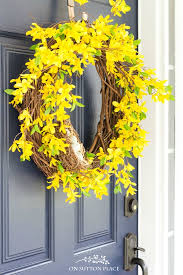 forsythia wreath forsythia wreath a pop of yellow for your door