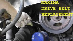 nissan maxima infiniti drive belt replacement with basic hand