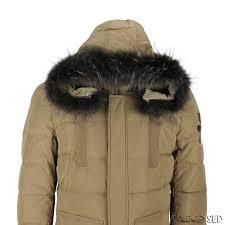 new mens puffer padded fur hood down jacket winter warm parka coat