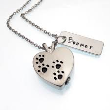 pet urn necklace heart pet urn necklace cremation jewelry paw print