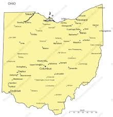 ohio map of cities ohio powerpoint map major cities