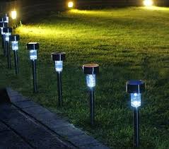 Landscape Led Lights 25 Solar Outdoor In Ground Garden Landscape Led Lights