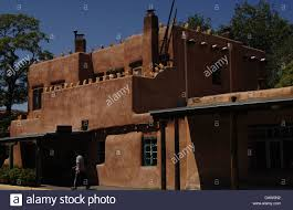 united states santa fe typical house of adobe state of new
