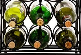 hanging rod iron wine racks u0026 table black iron wine rack