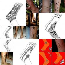 henna tattoo foot and ankle designs mosaic by april mo on deviantart