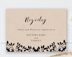 wedding gift registry wedding registry template wedding registry card enclosure