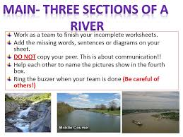 ks3 geography year 7 sow rivers 3 the three sections of a river