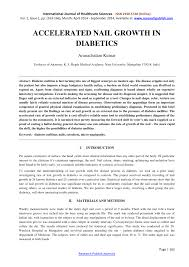 accelerated nail growth in diabetics pdf download available