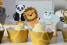 jungle party cupcake toppers safari baby shower jungle
