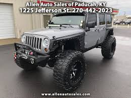 charcoal grey jeep rubicon buy here pay here cars for sale paducah ky 42001 allen auto sales