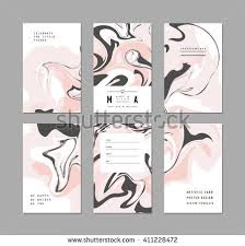 creative trendy cards ice cream abstract stock vector 411228481