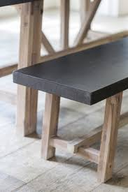 cement fibre dining table and bench set