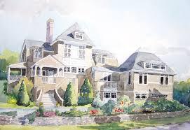 gerry bay house 10 14 watercolor landscape sold wilson pollock