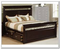 king size bed frame with storage drawers home design ideas